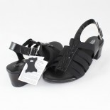 Sandale piele naturala dama - negru, Agressione - S-119-2-Negru