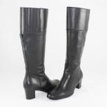 Cizme piele naturala dama - negru, Johnny shoes - iarna - 55042-CaponiNero