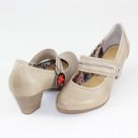 Pantofi piele naturala dama - bej, Marco Tozzi - toc mic - 2-24416-22-PepperAntic