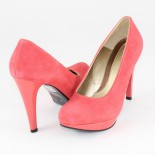 Pantofi piele intoarsa dama - roz, Nike Invest - toc inalt - M137-ORB