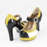 Pantofi piele naturala dama - multicolor, Nike invest - toc inalt - M292-MSN