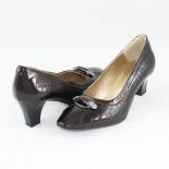 Pantofi piele naturala dama - maro, Nike Invest - toc mic - M70-Maro