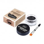 Gel de sprancene - Wibo Eyebrow Pomade - Black Brown