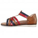 Sandale piele naturala dama - maro, Remonte - R2756-23-brown-combination
