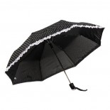 Umbrela de ploaie - negru/alb