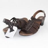 Sandale piele naturala dama maro Agressione S-119-2-Maro