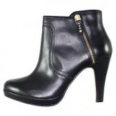 Botine piele naturala dama elegante negru s.Oliver 5-25348-23-Black