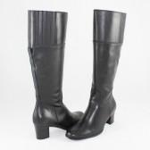 Cizme piele naturala dama negru Johnny shoes iarna 55042-CaponiNero