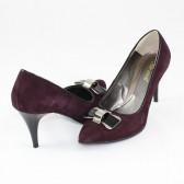 Pantofi piele intoarsa dama violet Nike Invest toc inalt M427-Gre-B