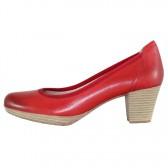 Pantofi piele naturala dama rosu Marco Tozzi toc mediu 2-22420-32-533-chili