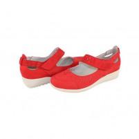 Pantofi Agressione - rosu, din piele naturală