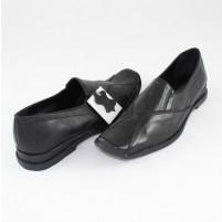 Pantofi Agressione - negru, din piele naturală