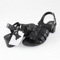 Sandale piele naturala dama negru Agressione S-119-1-Negru
