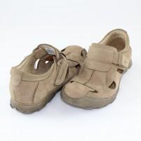 Pantofi Badura beige, din piele naturală