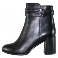 Botine piele naturala dama elegante negru Epica QVG092-5-R521-Y001-01-N-Black