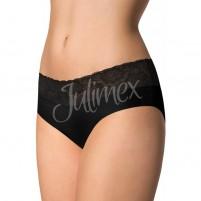 Chilot dama fara cusaturi negru Julimex bumbac dantela Julimex-Hipster-Negru