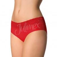 Chilot dama fara cusaturi rosu Julimex bumbac dantela Julimex-Hipster-Rosu