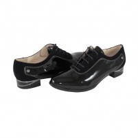 Pantofi Deska e - black, din piele naturală