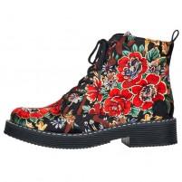 Ghete dama floral Rieker iarna 70010-90-Multicolor