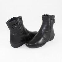 Ghete piele naturala dama negru Johnny shoes iarna 9352-Nero