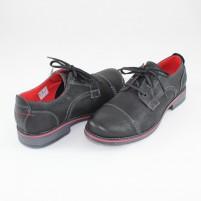 Pantofi Krisbut - black, din piele naturală