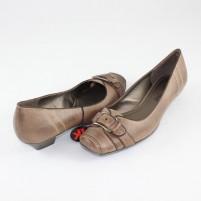 Pantofi Marco Tozzi - truffle ac, din piele naturală
