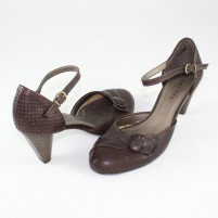 Pantofi Marco Tozzi - brown, din piele naturală