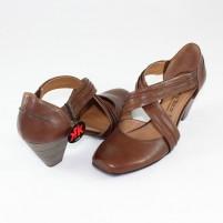 Pantofi Marco Tozzi  - cafe antic, din piele naturală