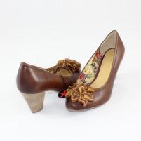 Pantofi Marco Tozzi muscat antic, din piele naturală