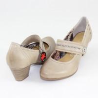 Pantofi Marco Tozzi pepper antic, din piele naturală