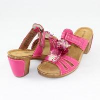 Saboţi Marco Tozzi pink, din piele ecologică
