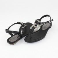 Sandale Marco Tozzi black, din piele ecologică