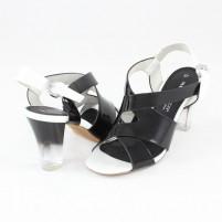 Sandale Marco Tozzi black comb, din piele ecologică