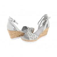 Sandale piele naturala dama gri multicolor Marco Tozzi 2-28370-24-Quartz
