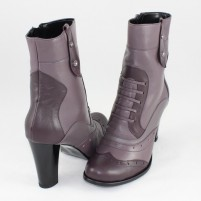 Ghete piele naturala dama gri violet Nike Invest iarna G264-VioletGri