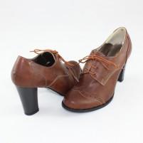 Pantofi piele naturala dama maro Nike Invest toc inalt M354-MAp1