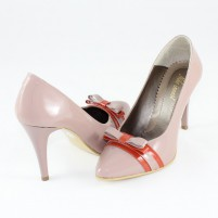 Pantofi piele naturala dama bej Nike Invest toc inalt M423-Bej-CRF
