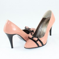 Pantofi piele naturala dama roz Nike Invest toc inalt M423-Roz-N-L