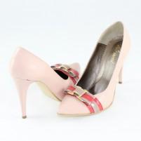 Pantofi piele intoarsa dama roz Nike Invest toc inalt M427-Roz-B