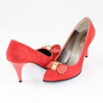 Pantofi Nike Invest - roşu, din piele naturală