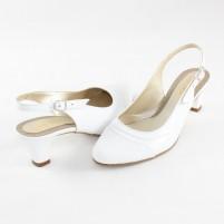 Pantofi piele naturala dama alb Nike Invest toc mic S458-Alb