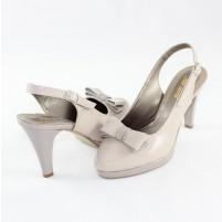 Pantofi piele naturala dama gri Nike Invest toc mediu S469-GriL
