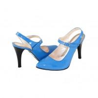 Pantofi piele naturala dama albastru Nike Invest toc inalt S612-B26
