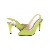 Pantofi cu toc Nike Invest - verde, din piele naturală