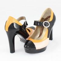 Pantofi piele naturala dama multicolor Nike invest toc inalt M292-PNB