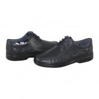 Pantofi Nicolis - negru, din piele naturală