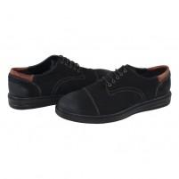 Pantofi piele naturala barbati negru Agressione Erick-V1-Negru