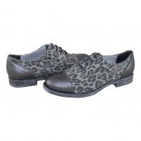 Pantofi Agressione - argint, din piele naturală