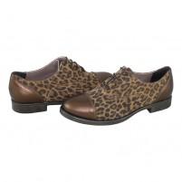 Pantofi Agressione - auriu, din piele naturală
