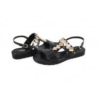 Sandale piele naturala dama negru Agressione Vichi-V1-Negru